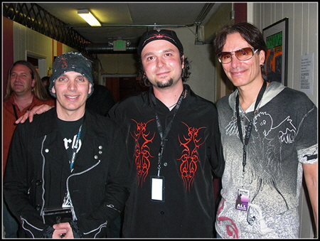 Daddo with Joe Satriani & Steve Vai